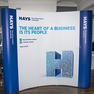 Exhibition Stand Wall Covering : Roller banners vs exhibition stands kaizen print ireland