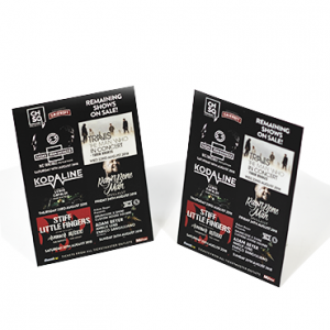 Strut Card Printing. Kaizen Print