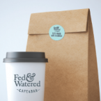 Circular Labels For Cafes