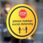 Social Distancing Window Stickers