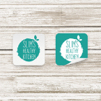 Square Labels For Cafes