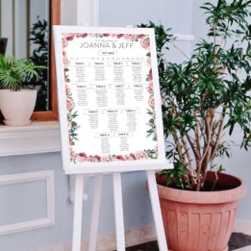 Table Plan Printing wedding ireland