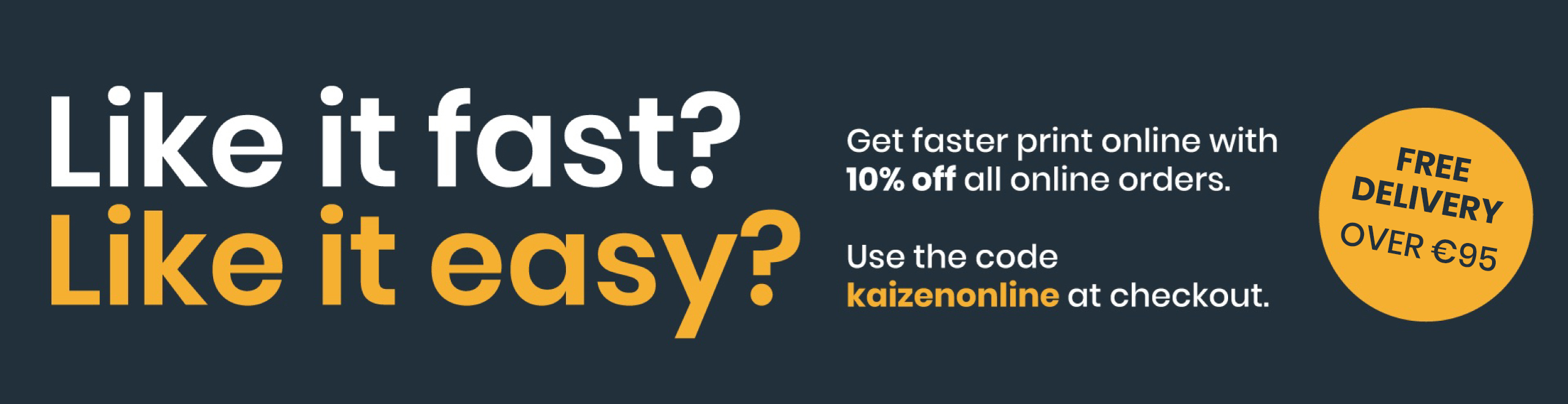 Kaizen Print New Site Launch